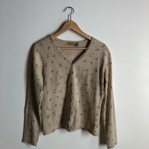 Caslon Wool Blend cardigan and blouse set